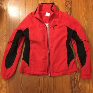 Red and black lightweight jacket